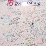 A public memorial after the Boston bombings